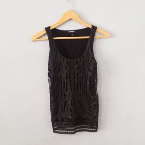 Express tank top with laser cut out